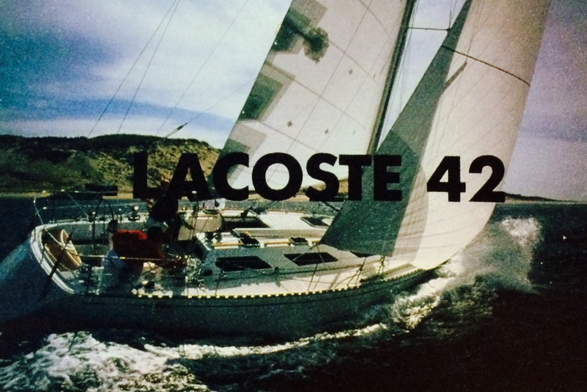 LACOSTE 42 Sailing Boat (1985, LACOSTE Archives)