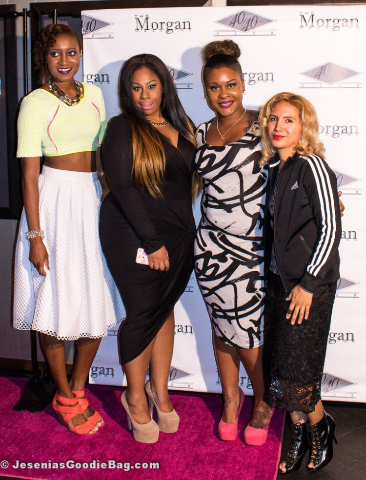 Ceres D. Henry (Diaja), Fatiah Rebbekah + Amanda Nicole (The Morgan Magazine), with Jesenia (JGB Editor)
