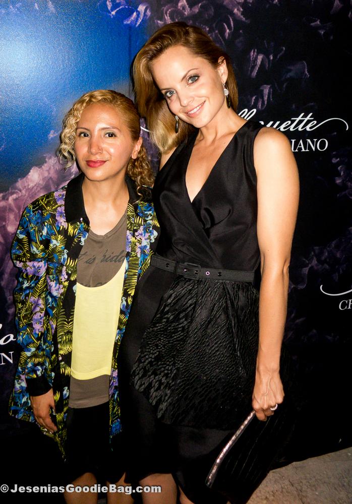 Jesenia (JGB Editor) with Mena Suvari