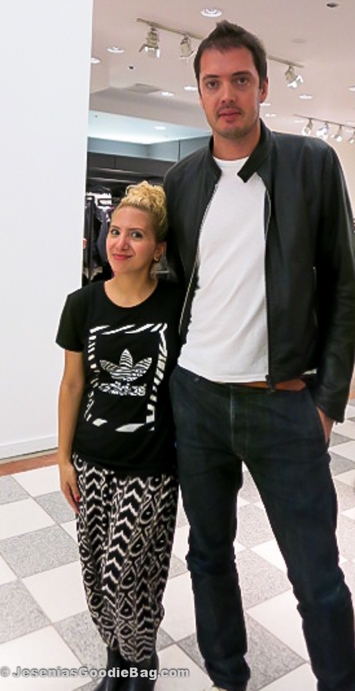 Jesenia (JGB Editor) with Marcus Wainwright (Rag & Bone)
