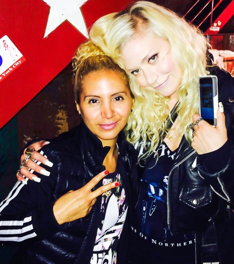 Jesenia (JGB Editor) with Aretha Sack (FLOSS GLOSS)