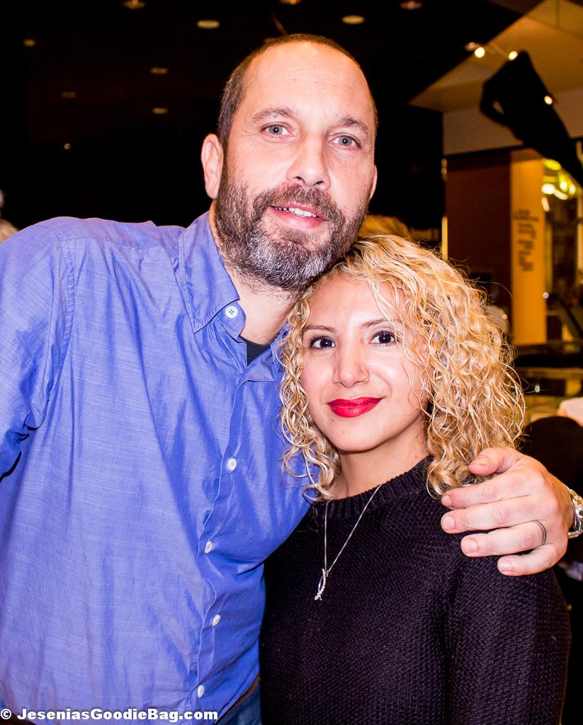 Alexis Bittar with Jesenia (JGB Editor