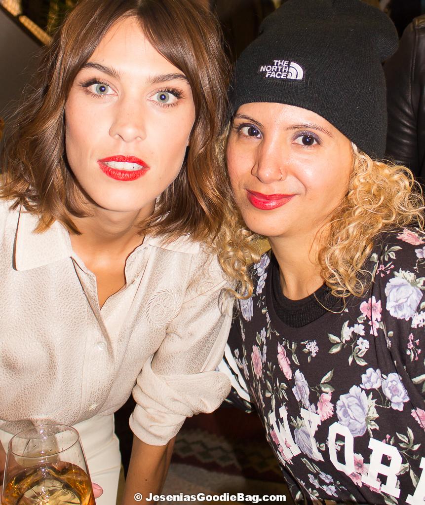 Alexa Chung with Jesenia (JGB Editor)
