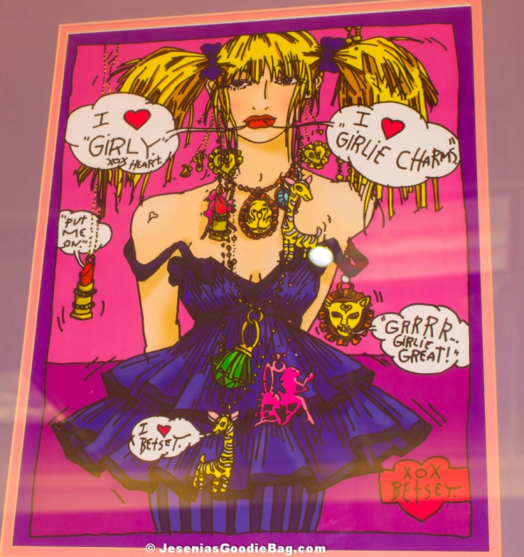 Betsey Johnson- Cartoon Portrait