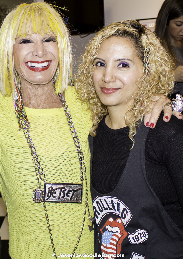 Betsey Johnson with Jesenia (JGB Editor)