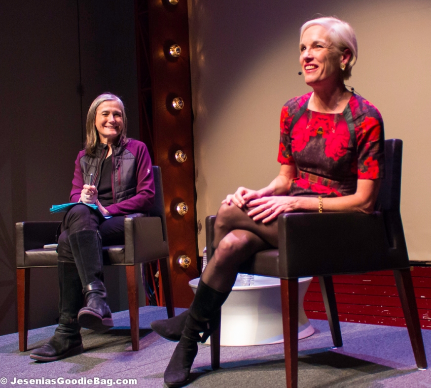 Amy Goodman (Democracy Now!) with Cecile Richards (Planned Parenthood)