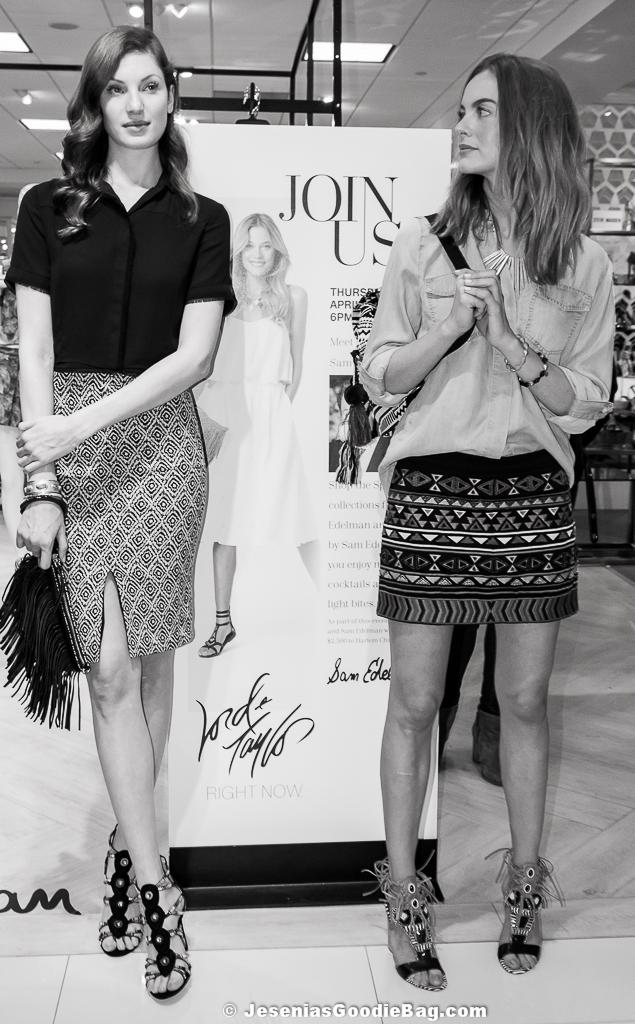 Models wearing Sam Edelman. (Handbag: Clover) (Shoes: Yates, Sage)