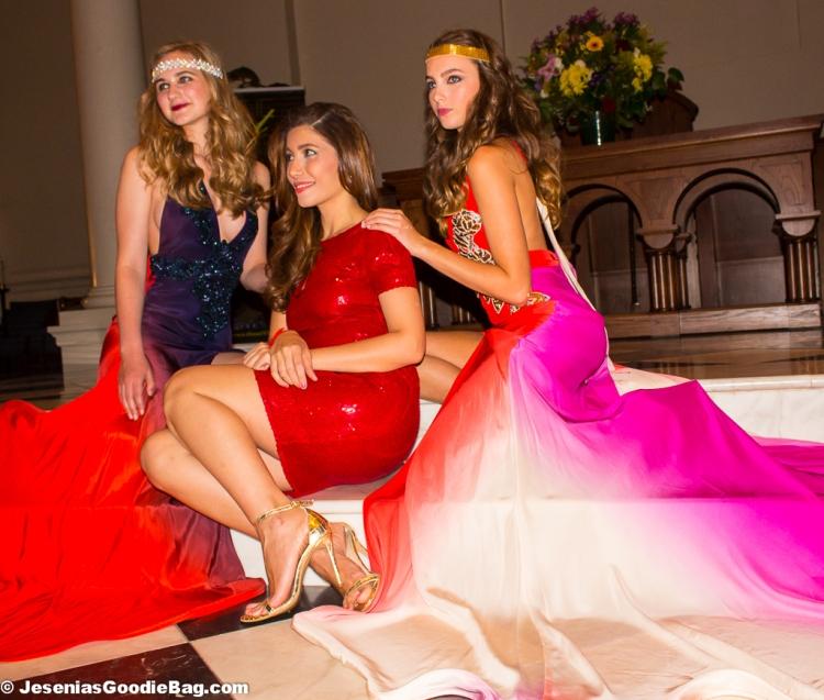 Irina Shabayeva with her models