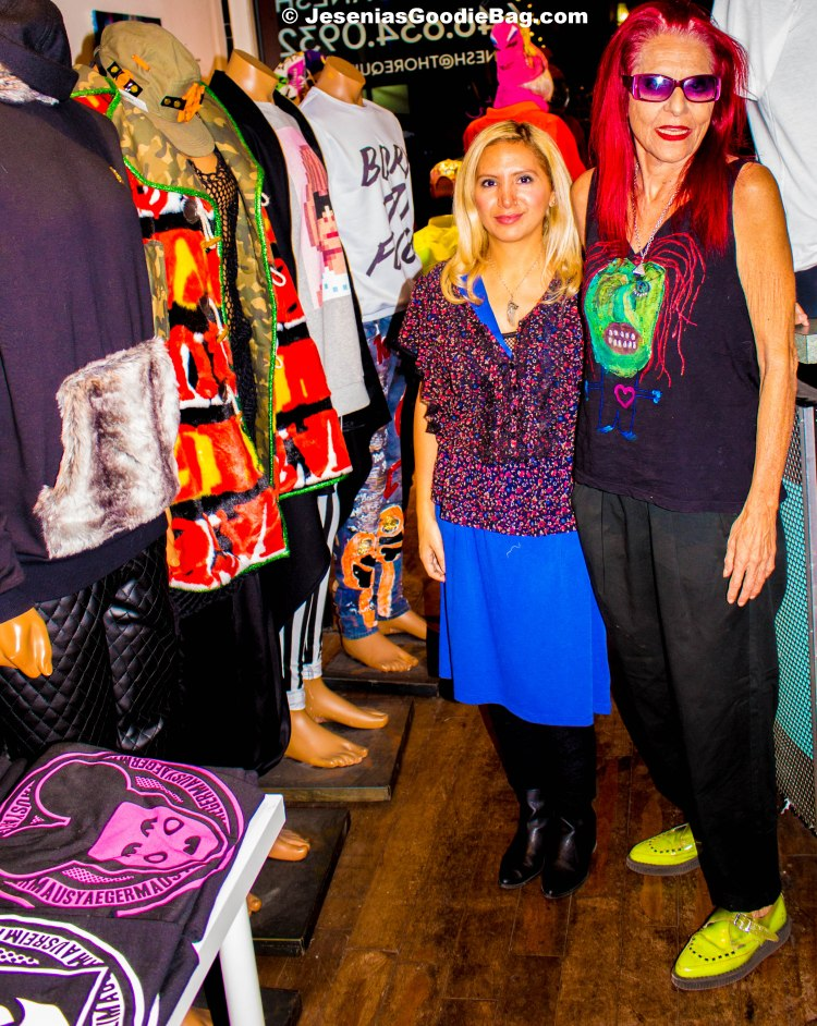 Jesenia (JGB Editor) with Patricia Field